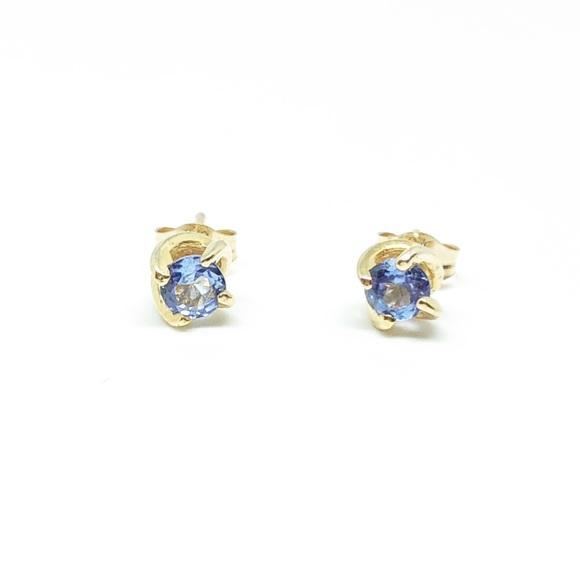 265cc8560 Kay Jewelers Jewelry | 10k Yellow Gold Tanzanite Twist Stud Earrings ...